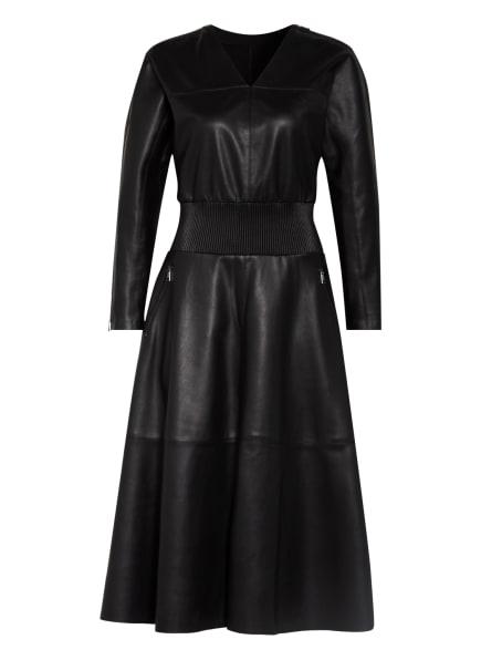KARL LAGERFELD Kleid in Lederoptik, Farbe: SCHWARZ (Bild 1)