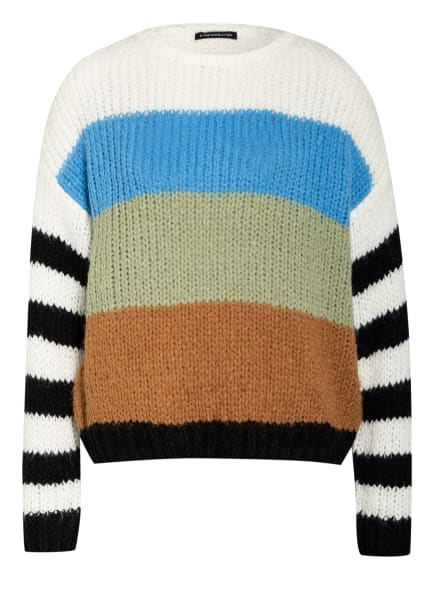 ONE MORE STORY Pullover , Farbe: WEISS/ BLAU/ COGNAC (Bild 1)