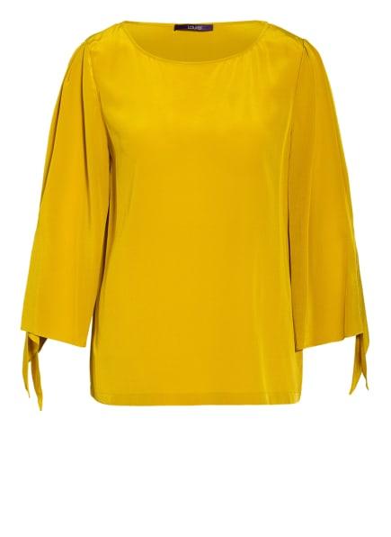 Laurèl Blusenshirt aus Seide, Farbe: DUNKELGELB (Bild 1)