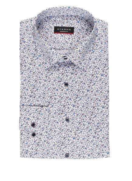 ETERNA Hemd Modern Fit, Farbe: WEISS/ BLAU/ BEIGE (Bild 1)