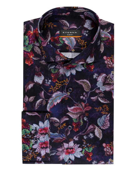 ETERNA Hemd Slim Fit, Farbe: DUNKELLILA/ DUNKELROT (Bild 1)