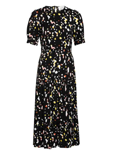 ba&sh Kleid TONYA, Farbe: SCHWARZ/ WEISS/ GELB (Bild 1)