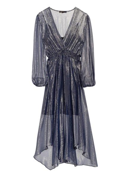 maje Kleid RUIT mit Glitzergarn, Farbe: BLAU/ SILBER (Bild 1)