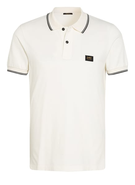 DENHAM Piqué-Poloshirt Slim Fit, Farbe: ECRU/ SCHWARZ (Bild 1)