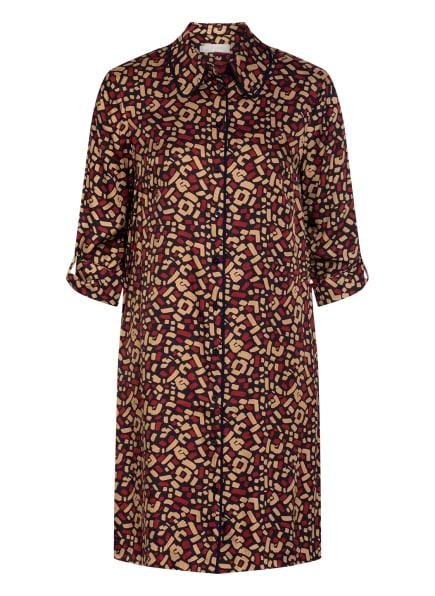HOBBS Kleid AUBERY mit 3/4-Arm, Farbe: SCHWARZ/ CAMEL/ DUNKELROT (Bild 1)