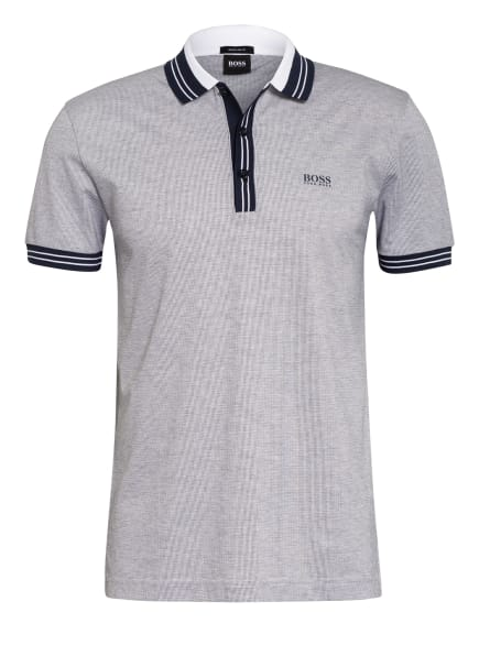 BOSS Piqué-Poloshirt PADDY 2 Regular Fit, Farbe: DUNKELBLAU/ HELLGRAU (Bild 1)