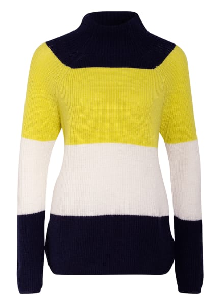 CARTOON Pullover, Farbe: NEONGRÜN/ DUNKELBLAU/ WEISS (Bild 1)