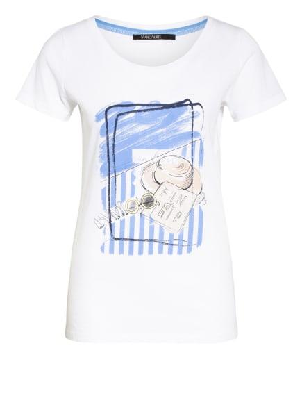 MARC AUREL T-Shirt, Farbe: WEISS/ HELLBLAU (Bild 1)