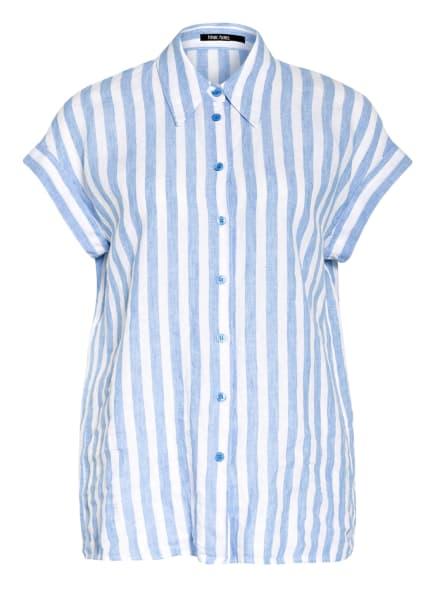 MARC AUREL Hemdbluse aus Leinen, Farbe: HELLBLAU/ WEISS (Bild 1)