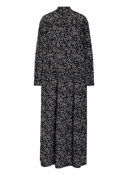 STEFFEN SCHRAUT Kleid mit Rüschenbesatz, Farbe: SCHWARZ/ WEISS/ BLAU (Bild 1)