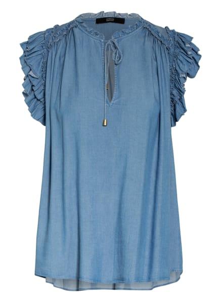 STEFFEN SCHRAUT Blusenshirt mit Rüschenbesatz, Farbe: HELLBLAU (Bild 1)