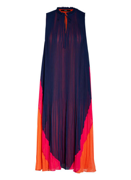 STEFFEN SCHRAUT Plisseekleid mit Rüschenbesatz, Farbe: DUNKELBLAU/ PINK/ ORANGE (Bild 1)