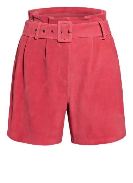 STEFFEN SCHRAUT Paperbag-Shorts aus Leder, Farbe: HELLROT (Bild 1)