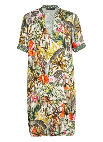 twenty six peers Kleid mit 3/4-Arm , Farbe: GRÜN/ ECRU/ ORANGE (Bild 1)
