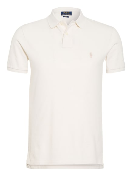 POLO RALPH LAUREN Piqué-Poloshirt Slim Fit, Farbe: ECRU (Bild 1)