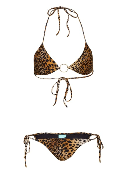 MELISSA ODABASH Triangel-Bikini MIAMI, Farbe: HELLBRAUN/ COGNAC/ SCHWARZ (Bild 1)
