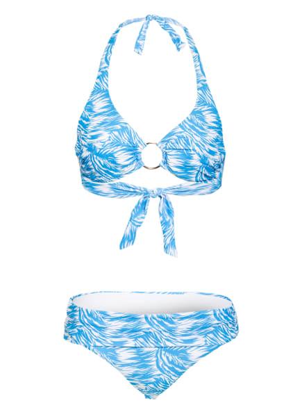 MELISSA ODABASH Neckholder-Bikini BRUSSELS , Farbe: TÜRKIS/ WEISS (Bild 1)