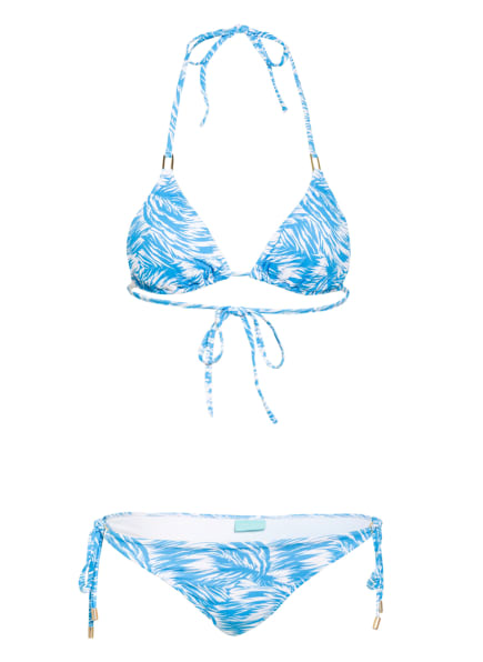 MELISSA ODABASH Triangel-Bikini CANCUN, Farbe: TÜRKIS/ WEISS (Bild 1)