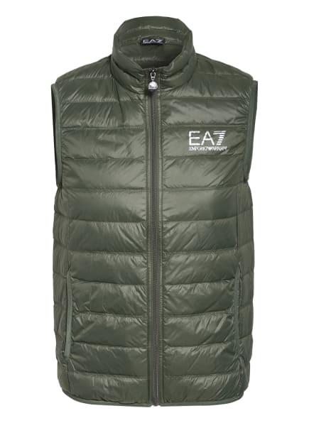 EA7 EMPORIO ARMANI Lightweight-Daunenweste, Farbe: OLIV (Bild 1)