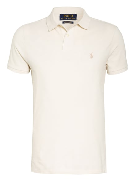 POLO RALPH LAUREN Piqué-Poloshirt Custom Slim Fit, Farbe: ECRU (Bild 1)
