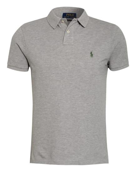 POLO RALPH LAUREN Piqué-Poloshirt Custom Slim Fit, Farbe: HELLGRAU (Bild 1)