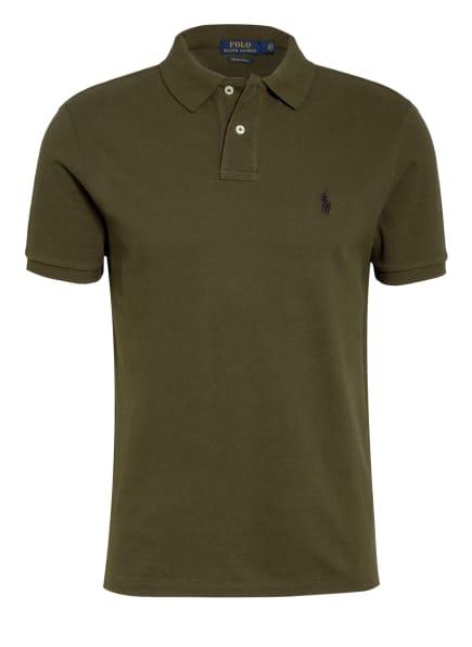 POLO RALPH LAUREN Piqué-Poloshirt Custom Slim Fit, Farbe: OLIV (Bild 1)