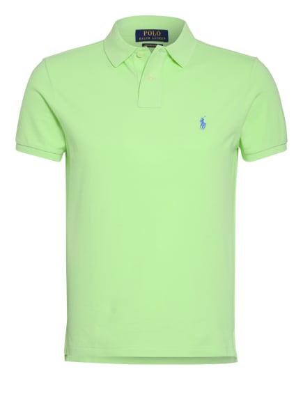 POLO RALPH LAUREN Piqué-Poloshirt Custom Slim Fit, Farbe: HELLGRÜN (Bild 1)