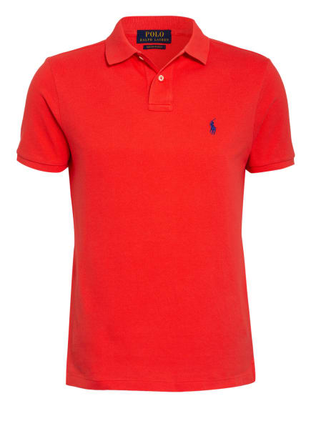 POLO RALPH LAUREN Piqué-Poloshirt Custom Slim Fit, Farbe: ROT (Bild 1)