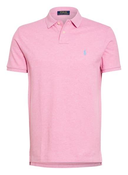 POLO RALPH LAUREN Piqué-Poloshirt Custom Slim Fit, Farbe: ROSA (Bild 1)