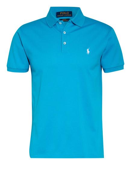 POLO RALPH LAUREN Piqué-Poloshirt Slim Fit, Farbe: NEONBLAU (Bild 1)