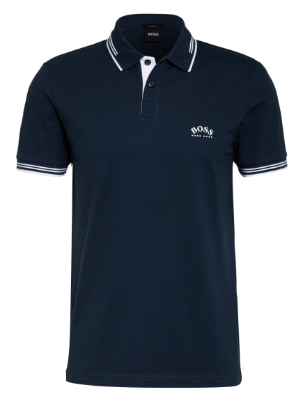 BOSS Piqué-Poloshirt PAUL Slim Fit , Farbe: DUNKELBLAU (Bild 1)