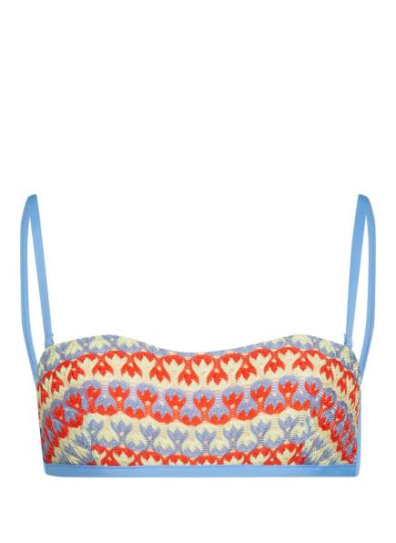 ANDRES SARDA Bustier-Bikini-Top IMAGINE, Farbe: HELLBLAU/ DUNKELORANGE/ HELLGRÜN (Bild 1)