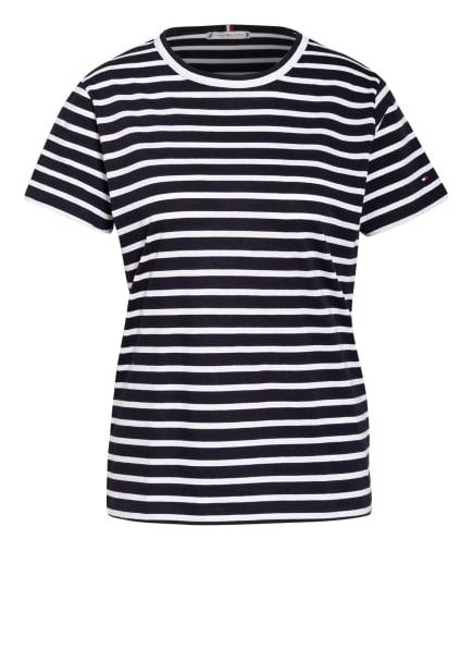 TOMMY HILFIGER T-Shirt , Farbe: DUNKELBLAU/ WEISS (Bild 1)