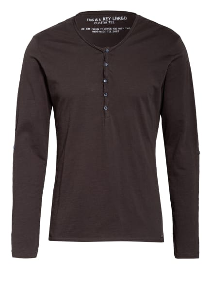 KEY LARGO Henley-Shirt GINGER, Farbe: DUNKELGRAU (Bild 1)