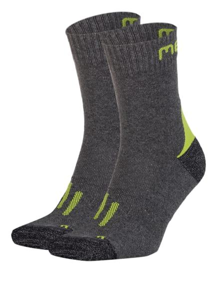 me°ru' 2er-Pack Trekking-Socken ZANSKAR, Farbe: ANTHRA/GREEN (Bild 1)