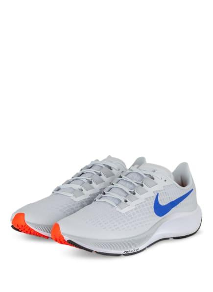 Nike Laufschuhe AIR ZOOM PEGASUS 37, Farbe: HELLGRAU/ BLAU/ ORANGE (Bild 1)