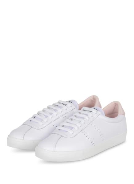 SUPERGA Sneaker 2843, Farbe: WEISS/ HELLROSA (Bild 1)