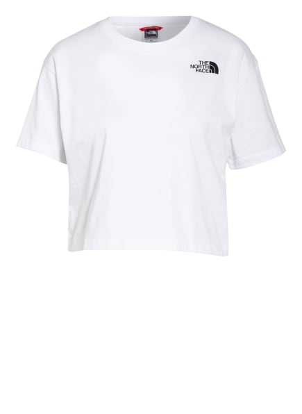 THE NORTH FACE Cropped-Shirt SIMPLE DOME, Farbe: WEISS (Bild 1)