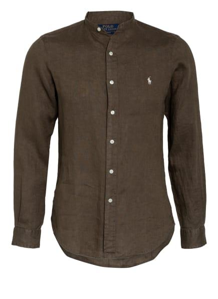 POLO RALPH LAUREN Leinenhemd Slim Fit mit Stehkragen, Farbe: OLIV (Bild 1)