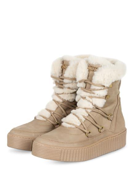 TOMMY HILFIGER Plateau-Boots , Farbe: BEIGE (Bild 1)