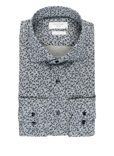 PROFUOMO Hemd Slim Fit, Farbe: DUNKELBLAU/ HELLGRAU (Bild 1)