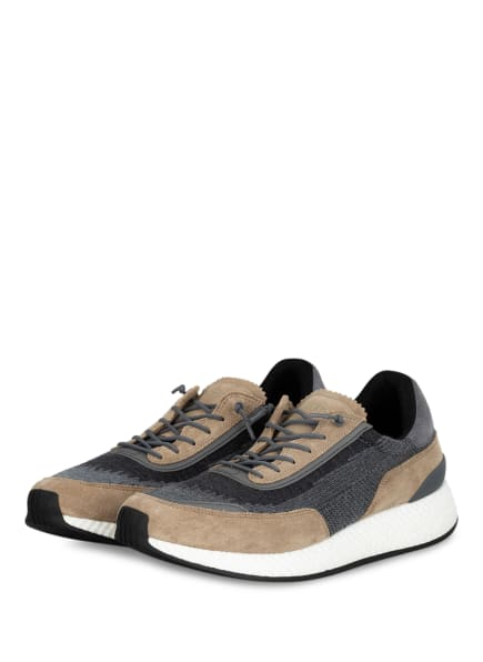 ZZegna Sneaker, Farbe: GRAU/ BEIGE (Bild 1)