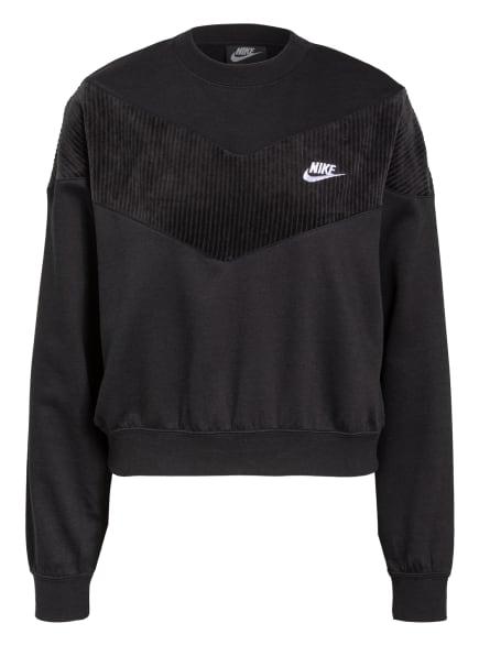 Nike Sweatshirt HERITAGE, Farbe: SCHWARZ (Bild 1)