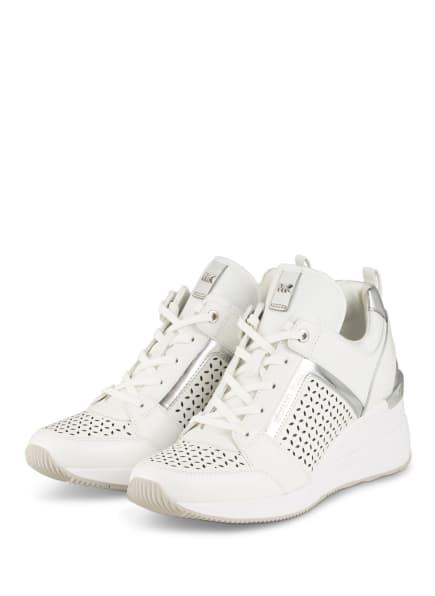 MICHAEL KORS Hightop-Sneaker GEORGIE, Farbe: WEISS/ SILBER (Bild 1)