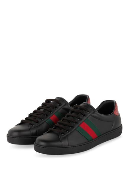 GUCCI Sneaker ACE, Farbe: SCHWARZ/ GRÜN/ ROT (Bild 1)