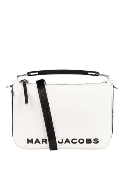 MARC JACOBS Schultertasche SOFT BOX, Farbe: WEISS/ SCHWARZ (Bild 1)