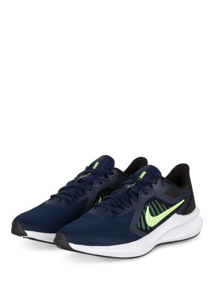Nike Laufschuhe DOWNSHIFTER 10, Farbe: DUNKELBLAU/ NEONGRÜN (Bild 1)