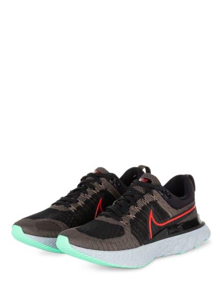 Nike Laufschuhe REACT INFINITY RUN FLYKNIT 2, Farbe: SCHWARZ/ BEIGE (Bild 1)
