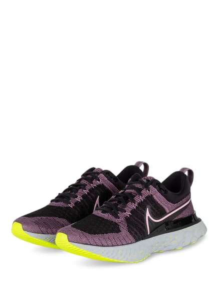 Nike Laufschuhe REACT INFINITY RUN FLYKNIT, Farbe: SCHWARZ/ ALTROSA (Bild 1)