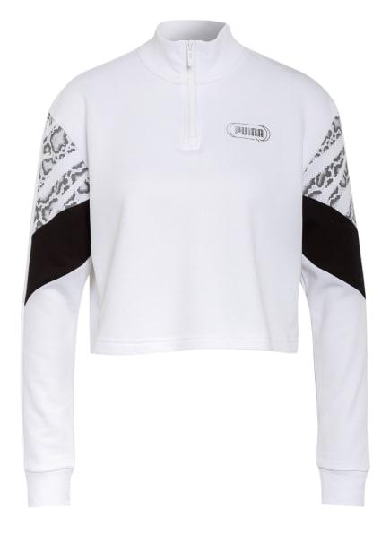 PUMA Sweatshirt , Farbe: WEISS/ SCHWARZ/ SILBER (Bild 1)